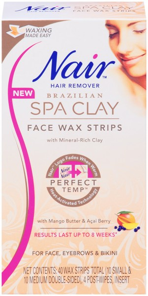 Nair Brazilian Spa Clay Face Wax Strips