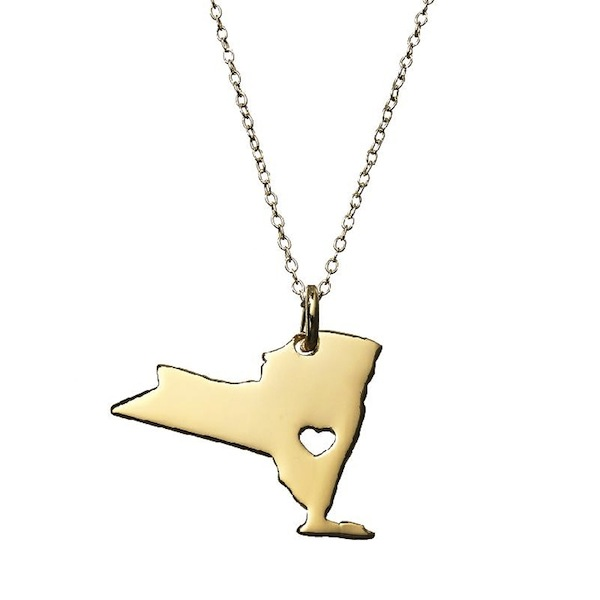 New York State Pendant Necklace