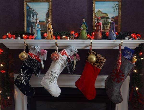 Christmas stockings Fireplace