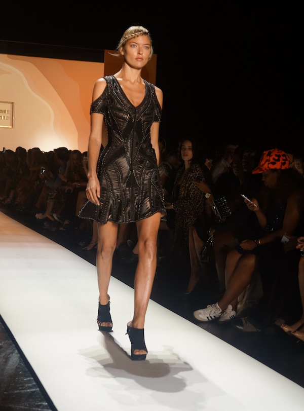 Herve Leger SS16 little black dress