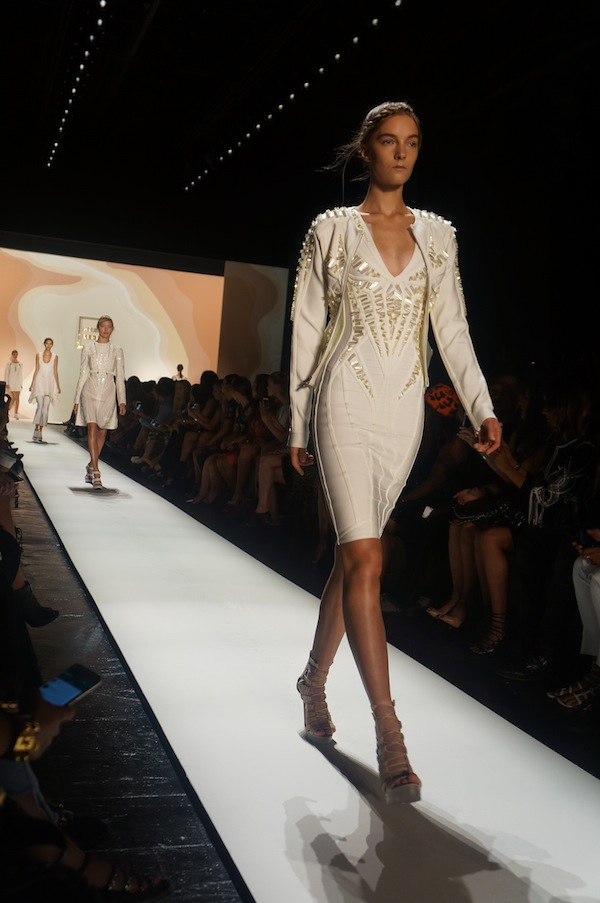final walk Herve Leger SS16 runway New York Fashion Week