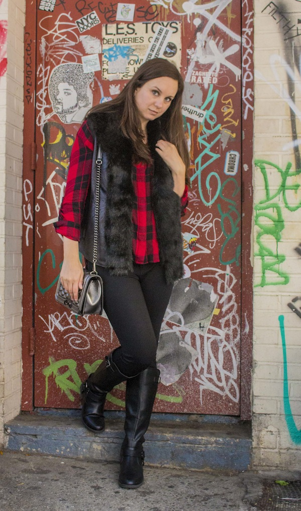 Plaid Shirt Express Shopping Fashion Blogger NYC