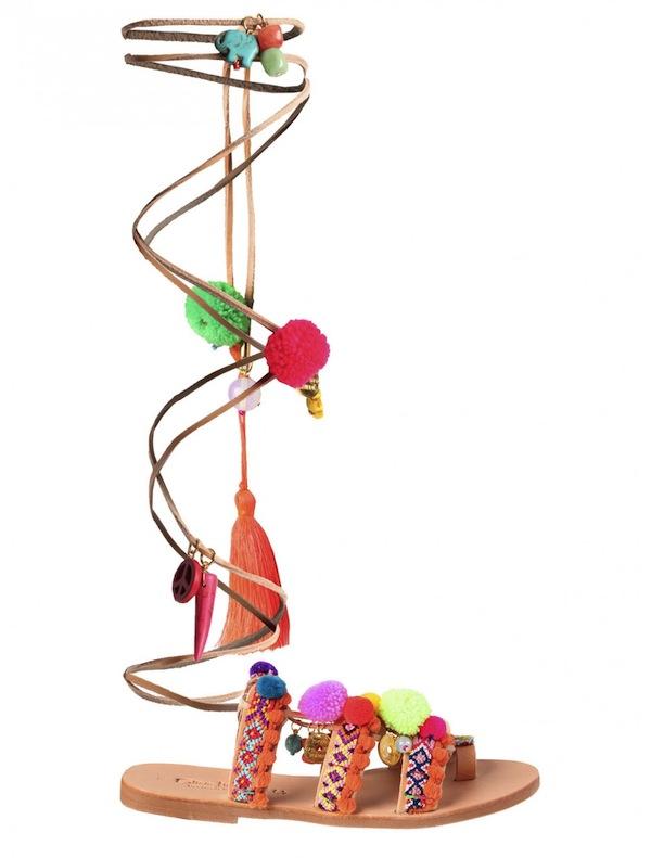 Elina Linardaki - Pom Pom Sandal Scoop NYC