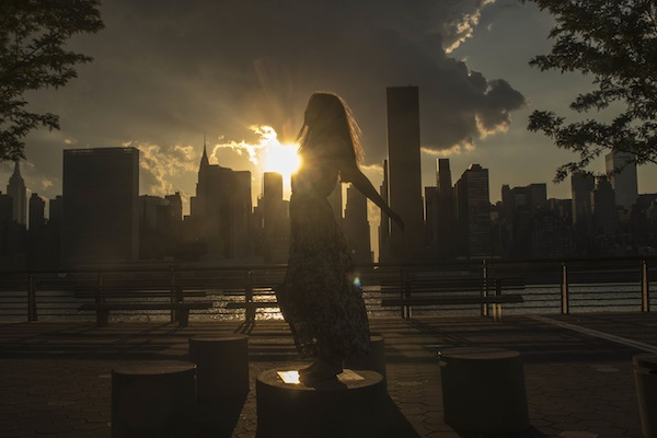Long Island City Sunset Maxi Dress