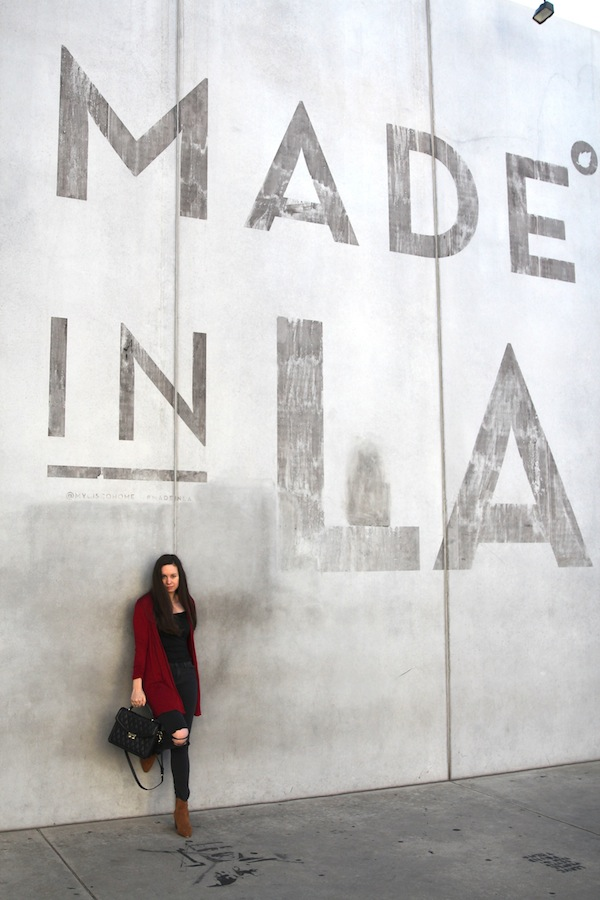 Los Angeles Made in LA Wall Fashion Blogger