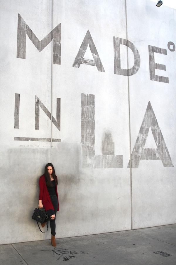 Los Angeles Made in LA Wall Fashion Blogger