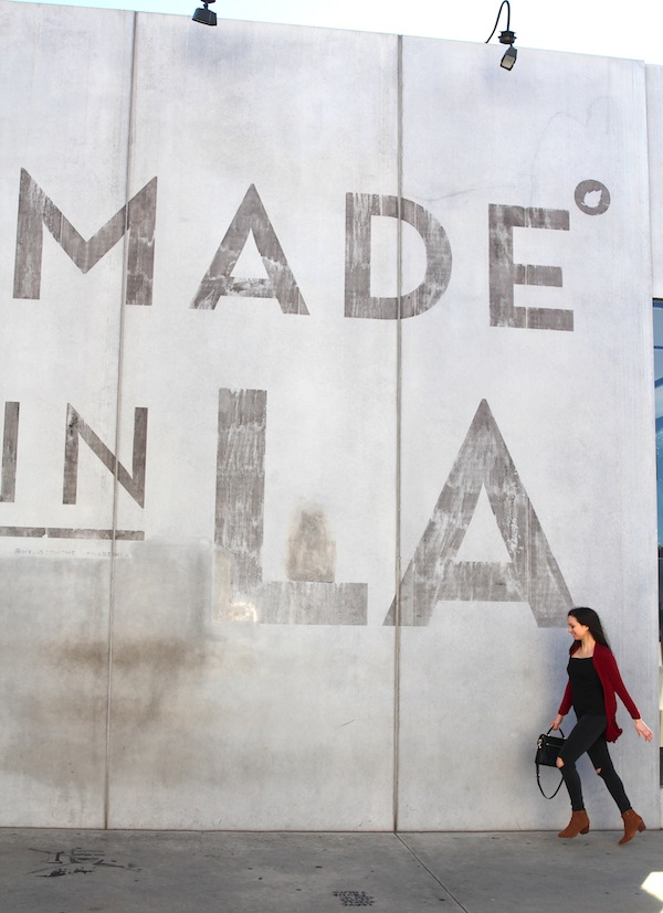 Made in LA Sign Joe's Jeans Aldo Shoes