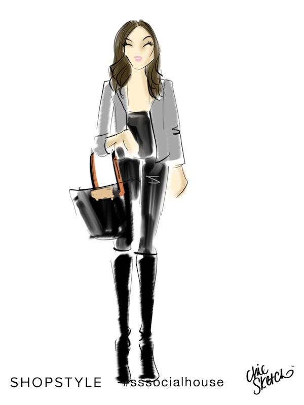 Chic Sketch Aspiring Socialite Fashion Week