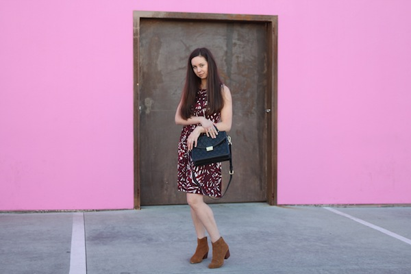 LOFT dress Fashion Blogger Paul Smith pink wall