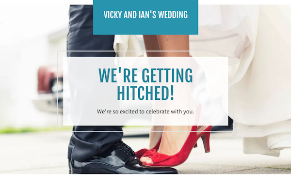 GoDaddy GoCentral wedding website