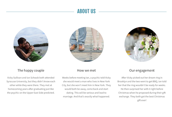 GoDaddy Wedding Website