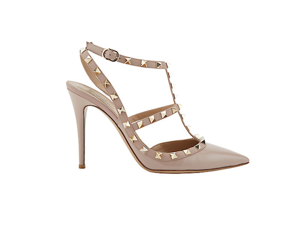 Valentino Rockstud Patent Leather Caged Pumps