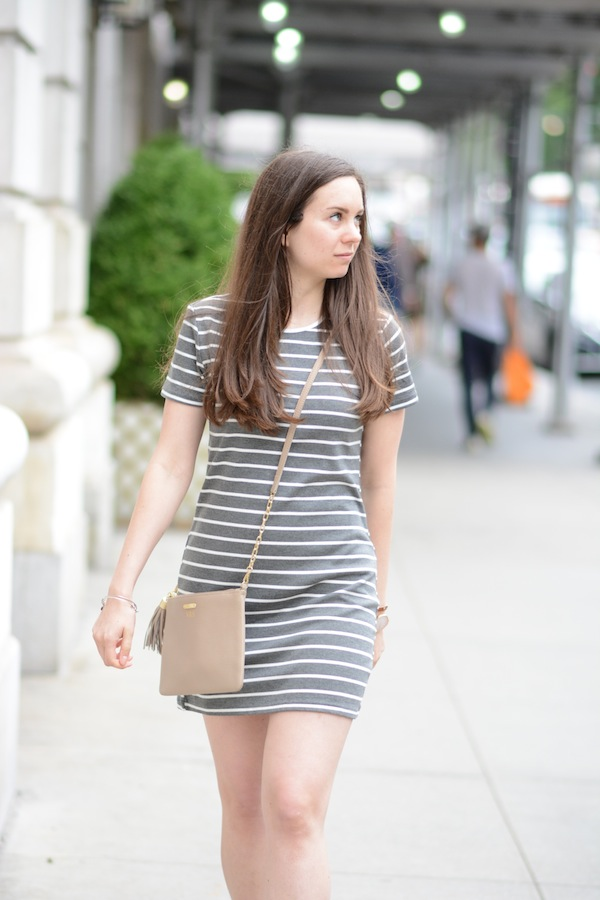 Tobi Striped Dress GiGi New York Bag