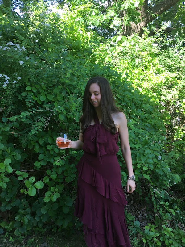 Rent The Runway Cinq à Sept Burgundy Valle Dress