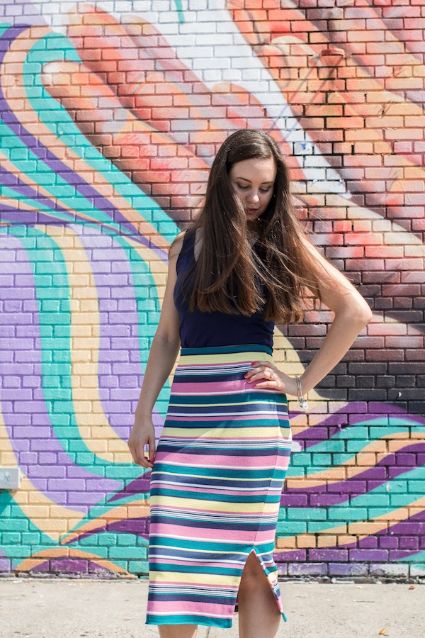 Anthropologie Iana Striped Skirt