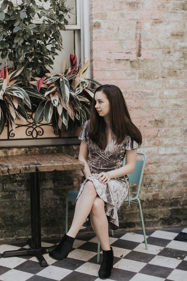 New Orleans Style Velvet Dress