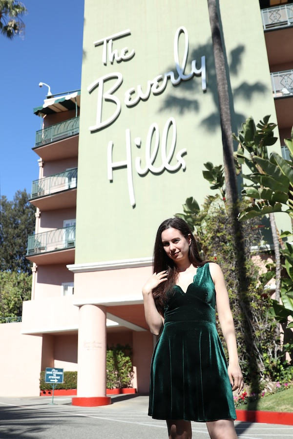 The Beverly Hills Hotel Velvet Dress