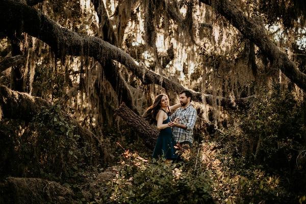 Hair Flip Engagement Photos