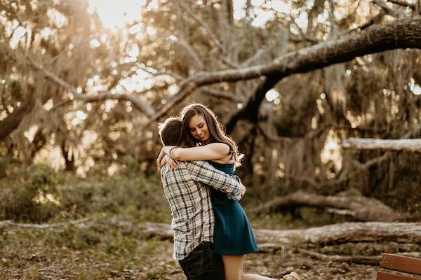 Lake Runnymede Orlando Engagement Photos