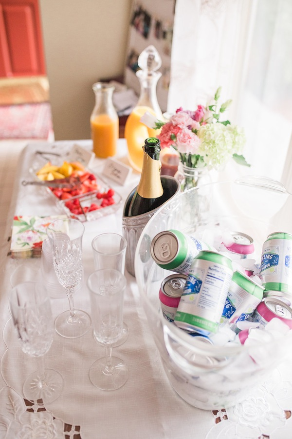 Bridal Shower Bar Decor
